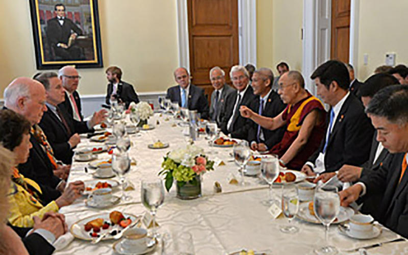 His Holiness the Dalai Lama Spends the Morning on Capitol Hill and the Afternoon with ICT